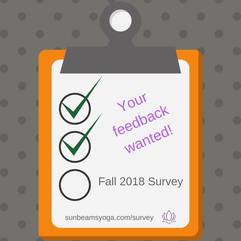 clipboard image with fall 2018 survey your feedback wanted